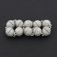 Silver Strong Magnetic Round Ball Clasps Jewelry Making Findings Beads 10x