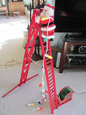 Vtg Original Lighted Motion Animated Mr Christmas Stepping Santa Musical IOB