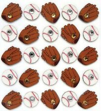 Jolee's BASEBALL AND MITTS REPEATS Stickers