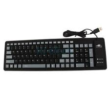 USB 2.0 103 Keys Silicone Roll Up Foldable PC Computer Keyboard Wired Keyboard