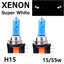 2 x H15 15/55W DRL MAIN BEAM HEADLIGHT SUPER WHITE XENON BULBS AUDI A3 A5 A6 Q7