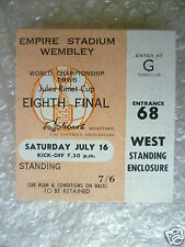 1966 World Cup Ticket- ENGLAND v MEXICO, 16 July (Original* Excellent*)