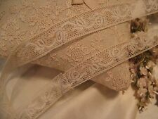 ANTIQUE FRENCH COTTON INSERTION LACE DOLL CRAFT (6) 4+ yes
