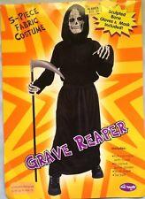 Grave Reaper Sculptured Skull Mask And Bone Gloves Costume- Robe Not Included