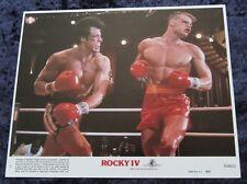 ROCKY IV lobby card SYLVESTER STALLONE, DOLPH LUNDGREN