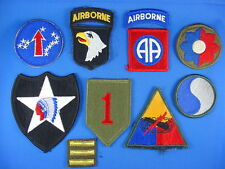 Lot of ten separate Famous American World War Two WWII patches repro & originals