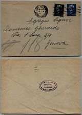 LUOGOTENENZA - 15+35 cent Emissione Novara(526+527) Busta Genova 19.5.1945