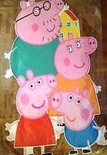 Peppa pig extra large géant autocollant mural nurserie enfants chambre autocollant