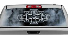 Truck Rear Window Decal Graphic [Tattoos & Themes / Iron Cross] 20x65in DC42706