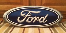 "FORD EMBLEM BADGE 20"" X 8"" METAL BAR LOGO HOME DECOR U.S.A. GARAGE MAN CAVE"