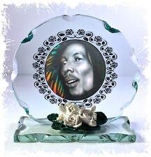 Bob Marley Cut Glass Round Plaque Unique Limited Edition Memorabilia Giorgio CS1