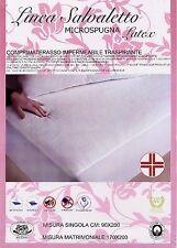 Coprimaterasso singolo 90x200 salvamaterasso impermeabile lattice/cotone