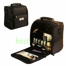 Pro Black Soft Makeup Train Bag Case Artist Cosmetic Organizer Beauty Box/Bag