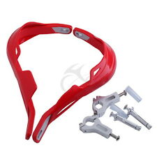 """New 7/8"""" 22mm Red Brush Hand Guards For Honda CR125R CRF230F CRF250X CRF450R"""