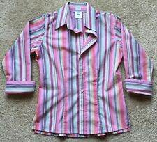 Craig Taylor Women's Egyptian Cotton Bella Fit Button Down Shirt ~EUC~ Size XXS