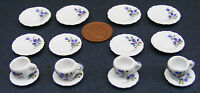 1:12 Scale 16 Piece Hand Painted Ceramic Tea Set Dolls House Miniature 23 Dining