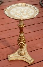 Round Wooden Base Gilt Gold Florentine Accent Table