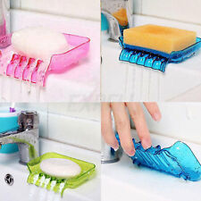Candy Colors Bathroom Washroom Plastic Soap Dishes Organizer Tray Holder