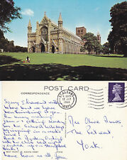 1968 St ALBANS ABBEY St ALBANS HERTFORDSHIRE COLOUR POSTCARD