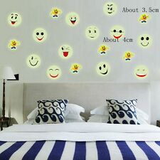 Glow In The Dark Emoji 3D Luminous Decal Smiley Face PVC Wall Stickers
