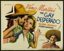 THE GAY DESPERADO Movie POSTER 22x28 Half Sheet Nino Martini Ida Lupino Leo