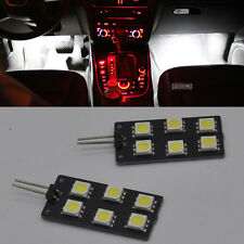 2x Error Free Front White footwell Lights SMD LED For Audi A4 S4 B8 2008-2015