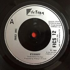 "THE CURE -Primary- Ultra Rare 1 sided Promo 7"" / Different design (vinyl record)"