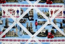 London fabric covered,box framed  Message /memo/pin/notice  board