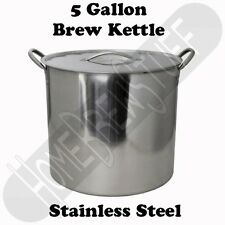 5 Gallon Stainless Steel Homebrew Brew Kettle Stock pot Home Beer Brewing