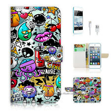 iPod Touch 5 iTouch 5 Flip Wallet Case Cover! P0880 Cartoon