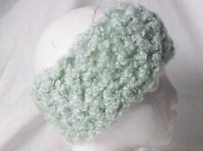 Crochet Headband Earmuff Warm & Cozy Light Green-Handmade by Pizazz Creations