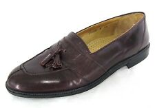 Stanley Blacker Shoes Sz 10.5 Mens Oxblood Brown Leather Tassle Loafers Italy