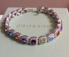 Judith Ripka Multi-Gemstone & Diamonique Bracelet in LARGE