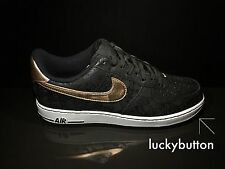 Nike Air Force 1 Low '07 LV8 Black/Bronze/White Mens Casual Shoes US 9.5 EUR 43