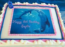 Dolphin Tale Winter and Hope Dolphin Party Premium Edible Frosting Cake Topper