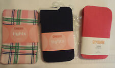 Gymboree Girls Size 3-4 Navy Pink Smart Girls Plaid Nylon Tights Lot NWT