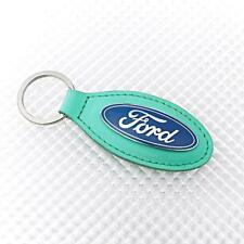 GREEN Richbrook Ford Logo Leather Key Ring / Fob 5500.98