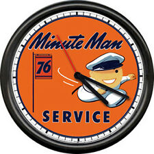 Minute Man Attendant Union 76 Gas Station Pump Oil Dealer Retro Sign Wall Clock