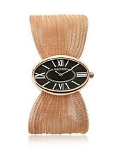 Valentino Womens V43MBQ5014S080 Seduction Rose Gold-Plated Oval Plisse Watch