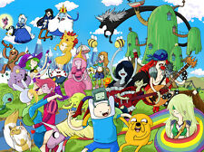 """Adventure Time - With Finn & Jake TV Series Fabric poster 32"""" x 24"""" Decor 13"""