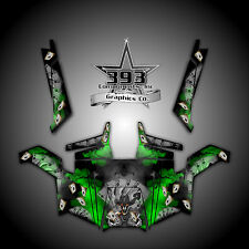 Polaris RZR 900 XP UTV Wrap Graphics Decal Kit 2011-2014 Outlaw Green