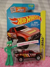 2015 Hot Wheels SUPER Treasure Hunt TOYOTA OFF-ROAD TRUCK #120✰red✰Real riders