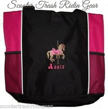 Carousel Horse Pink Tote Diaper Baby Bag PERSONALIZED monogrammed merry go round