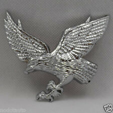 3D logo Car Motorcycle Metal FlyingEagle Trunk chrome badge emblem small Silver