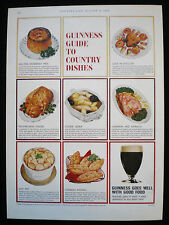 GUINNESS GUIDE TO ENGLISH CHEESE ORIGINAL MAGAZINE ADVERT GE4155 c1968