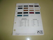 1983 Lincoln Mark R-M Color Chip Paint Sample - Vintage