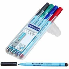Staedtler Lumocolor Correctable 305MWP4 Dry Erase Pen 1.0 mm Medium 4-Color Set