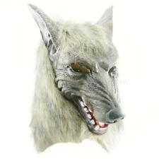 White Halloween Cosplay Realistic Werewolf Adult Wolf Masks Latex Costume Prop