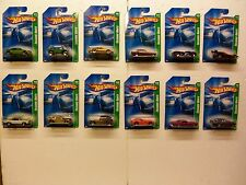 2008 Hot Wheels Regular Treasure Hunt Complete Set Of 1 - 12 - All MOC's -