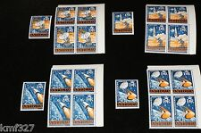 Antigua 199-202 MNH Space, Rocket, Apollo Project, Satellite, Tracking Station